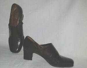 Nice-Classy-Dark-Brown-FRANCO-SARTO-Size-10-M-Heel-Shootie-Pumps-Shoes-Zipper