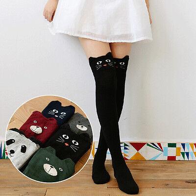 Fashion Women Cotton Over Knee Thigh Stockings Pantyhose Tights High Socks