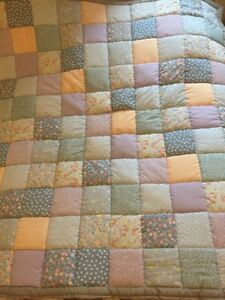 Quilt-Single-Bed-blanket-Patchwork-60-034-X58-034-New-Handmade-2-Thick-Wading-Ins