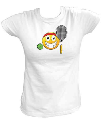 EMOJI TENNIS BALL /& RACQUET Tennis Sport Emoticons Funny Damen T-Shirt 18512