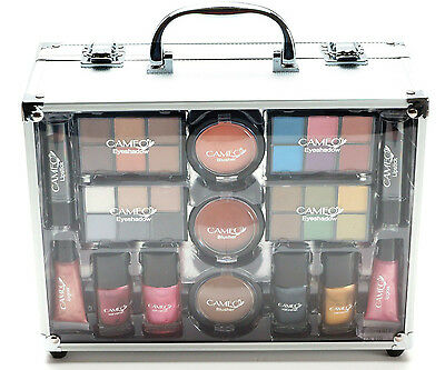 NEW Cameo Cosmetics All in One Makeup Professional Kit + Set Clear Box Case Gift