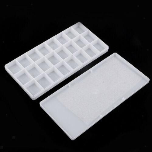 24 Grid White Paint Palette Box Empty Case Art Watercolor Paint Tray 21.5*10cm