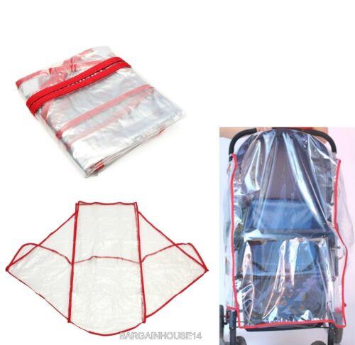 Universal NEW Buggy Pushchair Stroller Pram Transparent Rain Cover Baby
