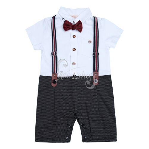 Baby Boys Wedding Birthday Christening Tuxedo Formal Party Suits Outfit Clothes