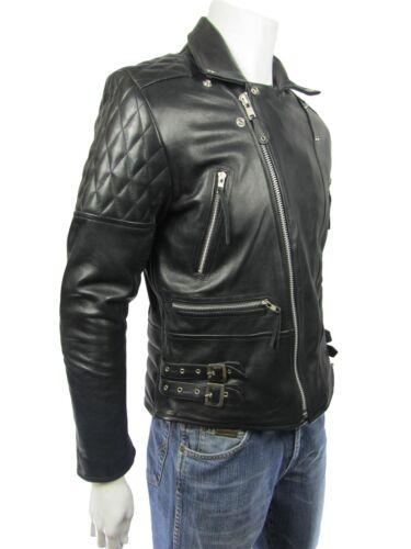 Rock Pad hommes en souple cuir Rock Osley de vachette noir pour motard Veau Diamond 7Pwqff