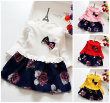 1pc baby clothes baby kids girls party daily birthday princess floral dress Tutu