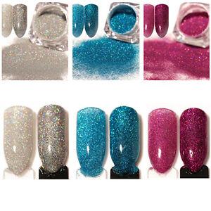 3-Boxen-BORN-PRETTY-Nail-Powder-Holographic-Nagel-Kunst-Puder-Glitter-Pigment