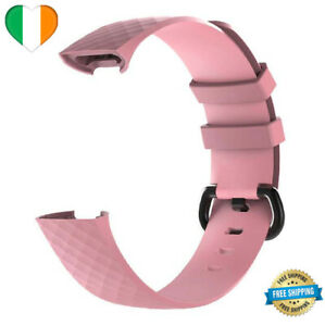 Luxury Silicone Band Strap Buckle For Fitbit Charge 3 4 Watch Replacement SMALL