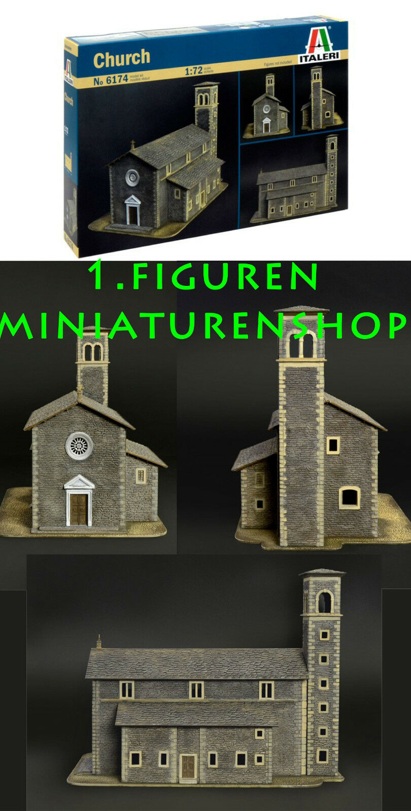 1 72 FIGUREN 6174 CHURCH - ITALERI  | | | Reichhaltiges Design  98e61b