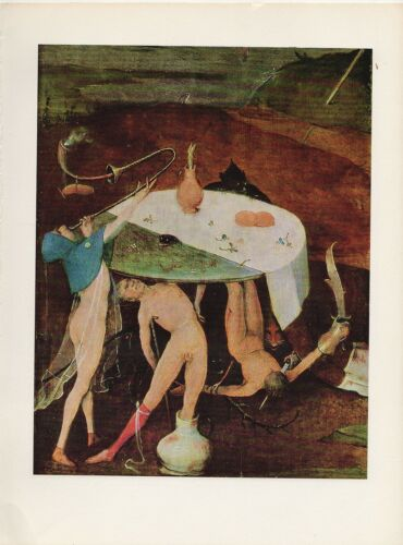 "1971 Vintage HIERONYMUS BOSCH /""TEMPTATIONS OF SAINT ANTHONY/"" #7 COLOR Lithograph"