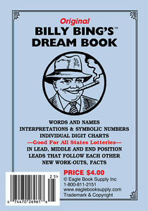 Details About Original Billy Bing S Dream Book Lottery Book Numerology Guide