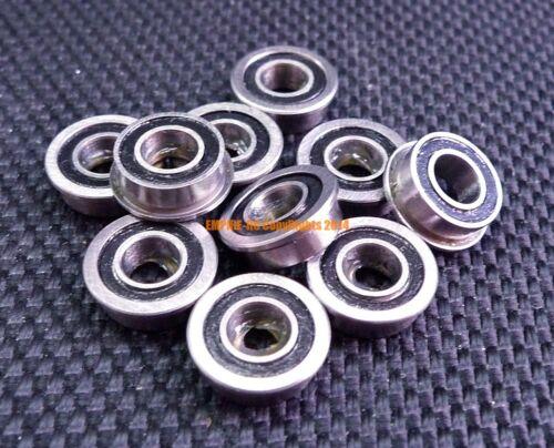 5x11x5 mm F685-2RS Black 10 PCS Metal Flanged Rubber Sealed Ball Bearing