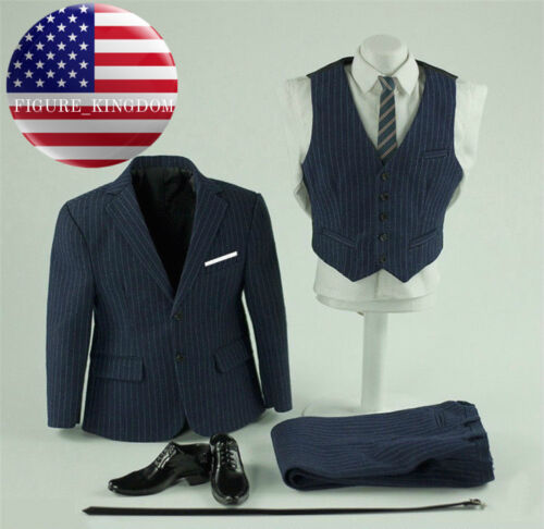"""1//6 Business Suit Set with Shoes For 12/"""" PHICEN TBL Muscular Male Figure M34 M35"""