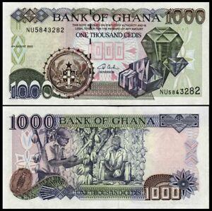 GHANA 1000 (1,000) Cedis, August 2003, P-32, Diamonds, UNC World Currency