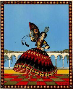Emile-Gallois-Danse-Danseuse-Espagnole-Espagne-Mode-Estampe-Pochoir-original