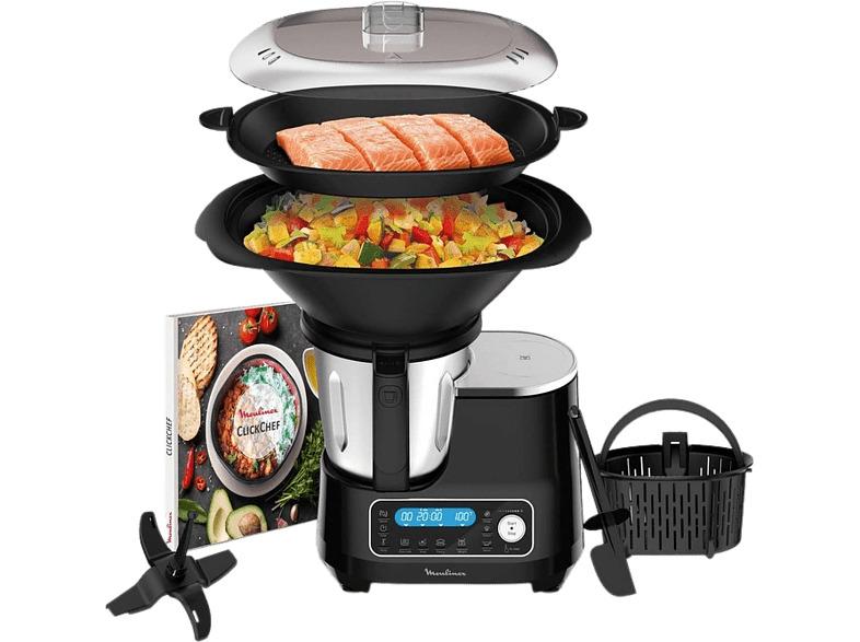 Robot de cocina - Moulinex ClickChef HF4SPR30, 5 programas, 32 funciones, 13...