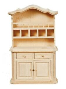 Dolls House Dresser With Cubby Holes Unfinished Bare Wood Miniature Furniture Ebay