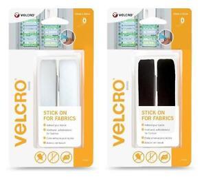 VELCRO-Marca-Adesivo-Per-Fabrics-19mm-x-60cm-bianco-o-nero-Nastro