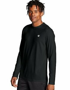 Champion-T-Shirt-Long-Sleeve-Tee-Men-Double-Dry-Core-Wicking-Plain-Athletic-Fit