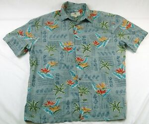78a0af8b Island Shores Men's XL Hawaiian Palm Trees Short Sleeve Button Up ...