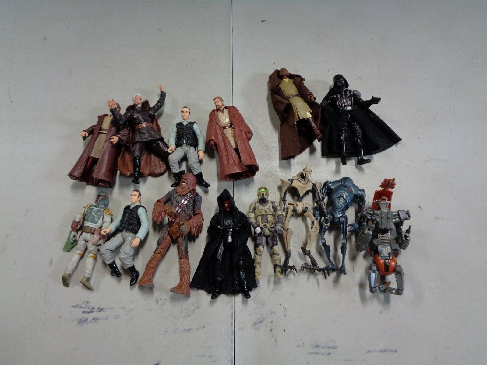 Lot of 14 Assorted Star Wars Figures with Chewbacca