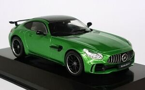 Altaya-1-43-Scale-Mercedes-Benz-AMG-GT-R-Coupe-Green-Supercar-Diecast-Model-Car