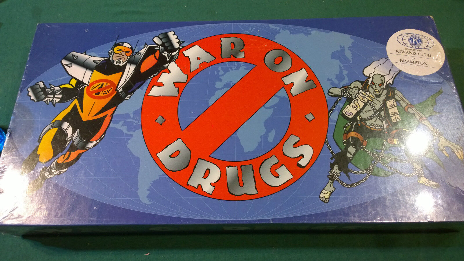 Vintage 1989 WAR ON DRUGS tavola gioco  nuovo SEALED kitsch ironic weed marijuana  alta qualità