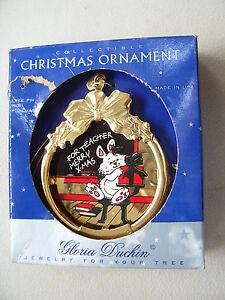 NEW-Gloria-Duchin-Teacher-Jewelry-For-Your-Tree-Christmas-Ornament-Merry-X-Mas