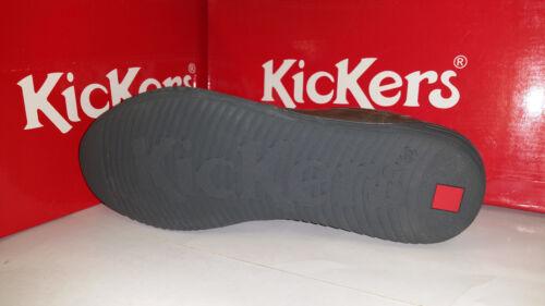 Kickers Jumbo Sneakers Darkish Leather Grey Mens Shoes size US 7.5-12