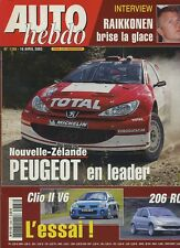 AUTO HEBDO n°1388 du 16 Avril 2003 WRC NOUVELLE ZELANDE RENAULT CLIO 2 V6 206 RC