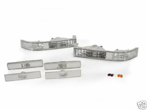 Clear Bumper Signal Rear Side Markers For 89-92 Toyota Supra Mk.3 III Front