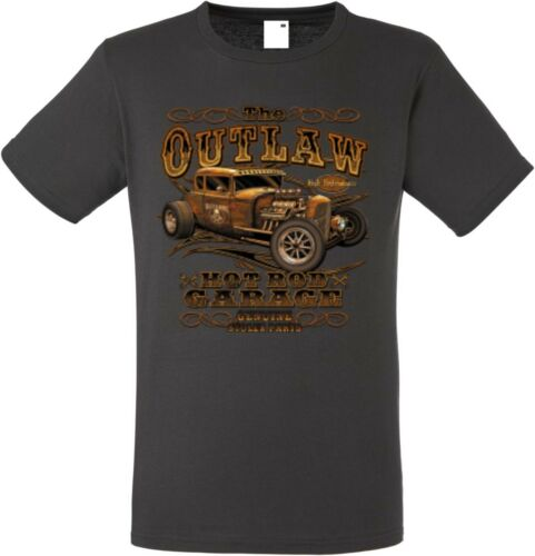 T Shirt Graphiteton V8- Hot Rod-,US Car-,`50 Stylemotiv Modell The Outlaw