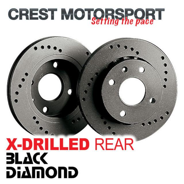 MAZDA RX8 2.6 03- BLACK DIAMOND X-Drilled Rear Brake Discs