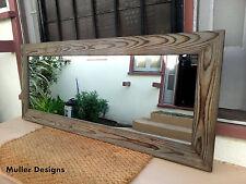 large wood mirror Gray /full length mirror/floor mirror/reclaimed wood