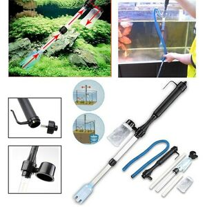 Aquarium-Gravel-Battery-Fish-Tank-Vacuum-Siphon-Cleaner-Pump-Water-Filter-USA
