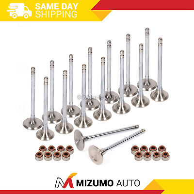 High Performance Intake Exhaust Valves w// Seals Fit 89-06 Eagle Mitsubishi 4G63