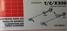 Shindaiwa T230 X230 C230 Gasoline Brush Saw Amp Line Trimmer Parts Catalog Manual
