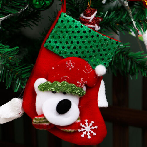 Christmas Party Santa Socks Xmas Tree Hanging Ornaments Festival Decor Stocking