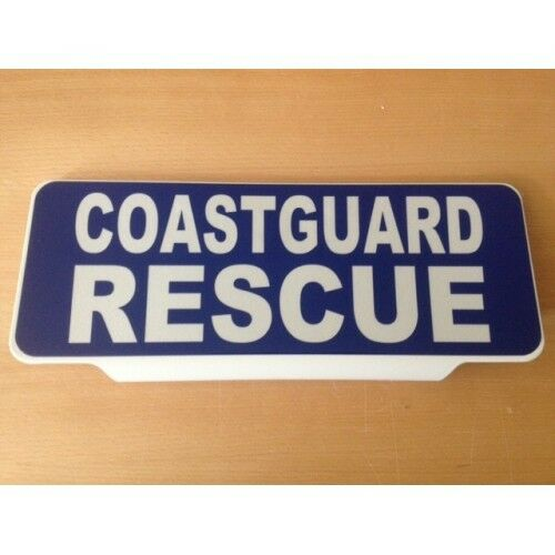 COASTGUARD RESCUE Reflective Silver Text univisor Sign visor Safe Response