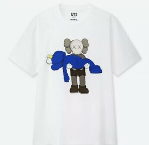 New-Authentic-KAWS-x-Uniqlo-Short-Sleeve-T-shirt-White-Size-XS-NWT-Deadstock-DS