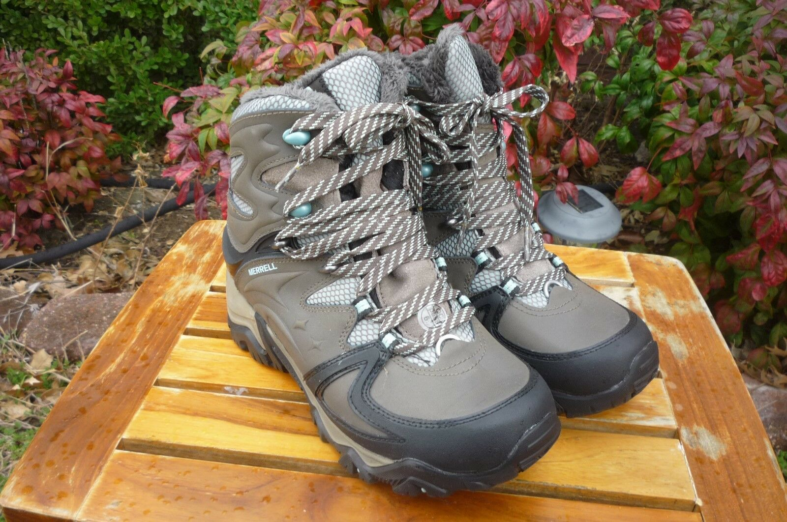 Wouomo NIB Merrell 7 B M Polarand 8 Boulder Waterproof Lace Up Winter stivali
