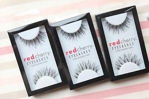 3x-Red-Cherry-WISPY-WSP-wispies-falsche-kuenstliche-Echthaar-Wimpern-strip-lash