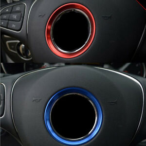 Details about 1x Red Steering Wheel Center Ring Cover Trim for Mercedes  Benz W205 C -Class