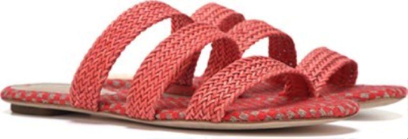 Via Spiga - - - 10M - Nuevo en Caja - Piel Naranja Trenzado Weave Tiras sin Cordones  compras online de deportes