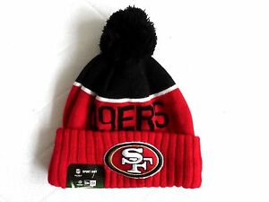 32aa1454 Details about New Era SAN FRANCISCO 49ers NFL Bobble Beanie Hat Wool Toque  American Football
