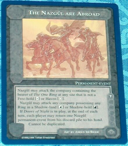 MECCG Middle-earth The Nazgul Are Abroad The Wizards Unlimited Middle earth NM