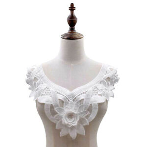 EE-DIY-Embroidery-Lace-Neckline-Collar-Trim-Clothes-Sewing-Applique-Decor-Newly