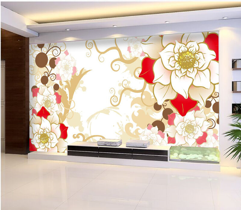 3D Wonderful Flowers 367 Wall Paper Print Decal Wall Deco Indoor wall Mural