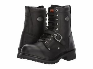Details about $169 NEW NIB Harley Davidson Faded Glory Mens Black Leather Moto Boots D91003