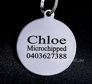 Stainless-Steel-Circle-Round-Pet-Tag-Free-Engraving-Personalised-Custom-ID-Dog